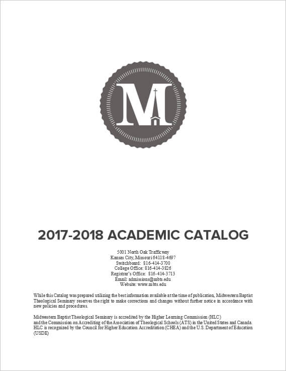 2017-18 Seminary Academic Catalog