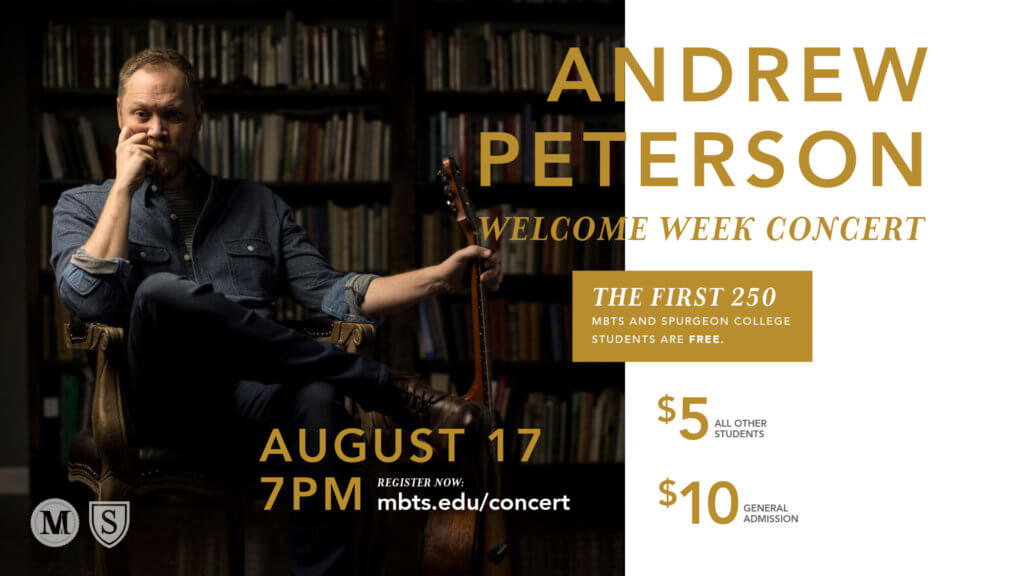 Welcome Week concert with Andrew Peterson
