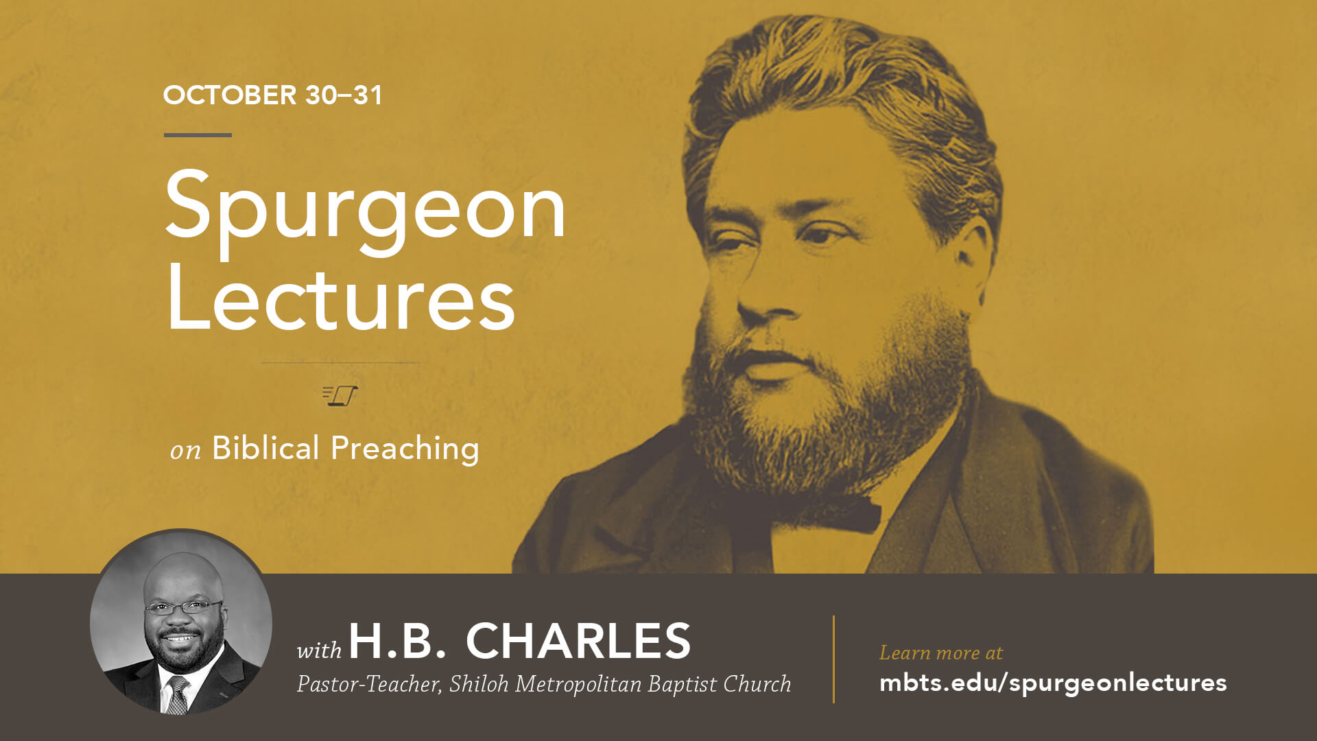 2018 Spurgeon Lectures on Biblical Preaching with HB Charles Jr.
