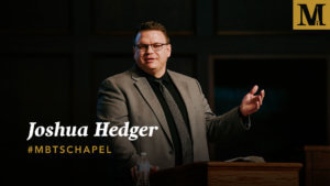 Chapel with Joshua Hedger - Oct. 24, 2018