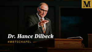 Chapel with Dr. Hance Dilbeck - Nov. 6, 2018