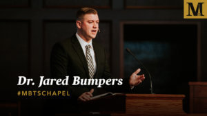 Chapel with Dr. Jared Bumpers - Nov. 13, 2018
