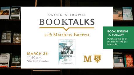BookTalks with Dr. Matthew Barrett