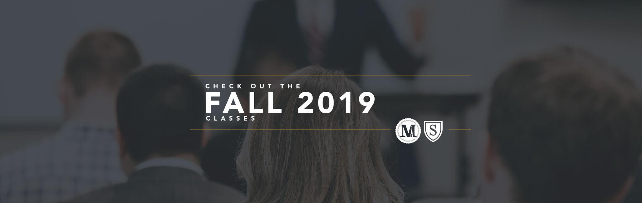 Fall 2019 Classes
