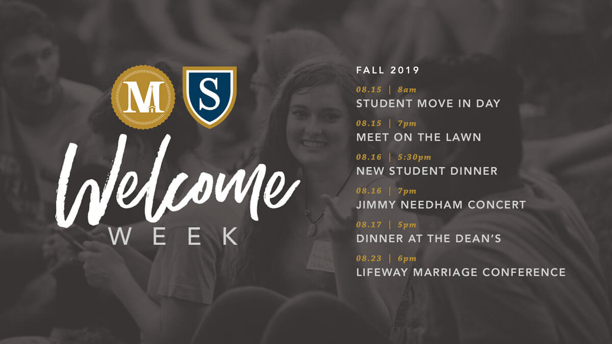 Join us for Welcome Week - Fall 2019