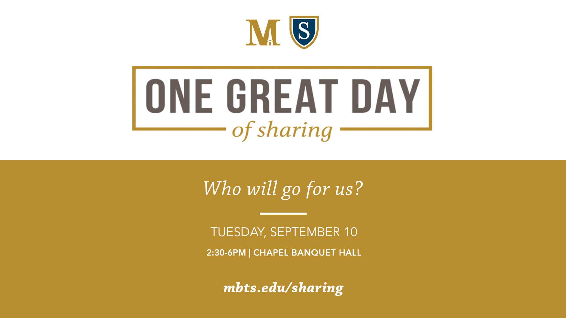 One Great Day of Sharing