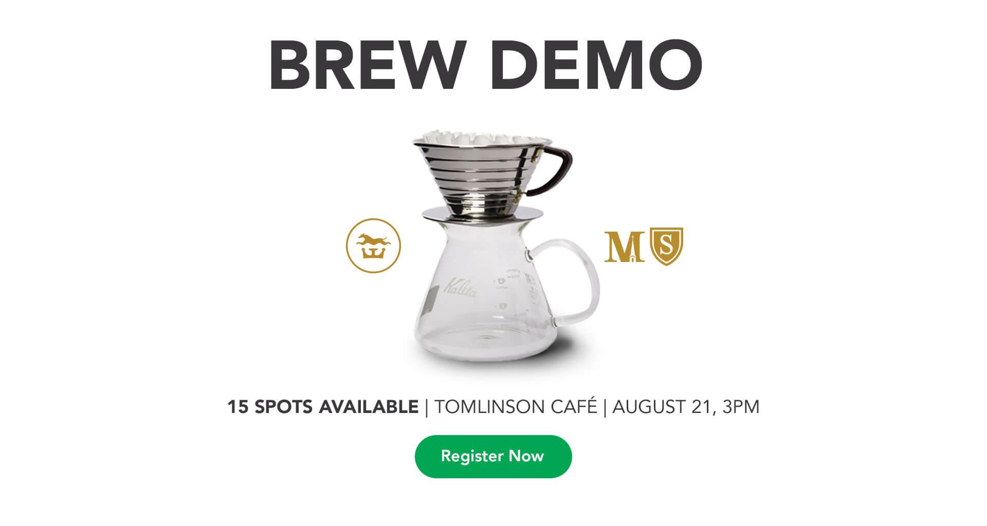 Tomlinson Cafe Brew Demo