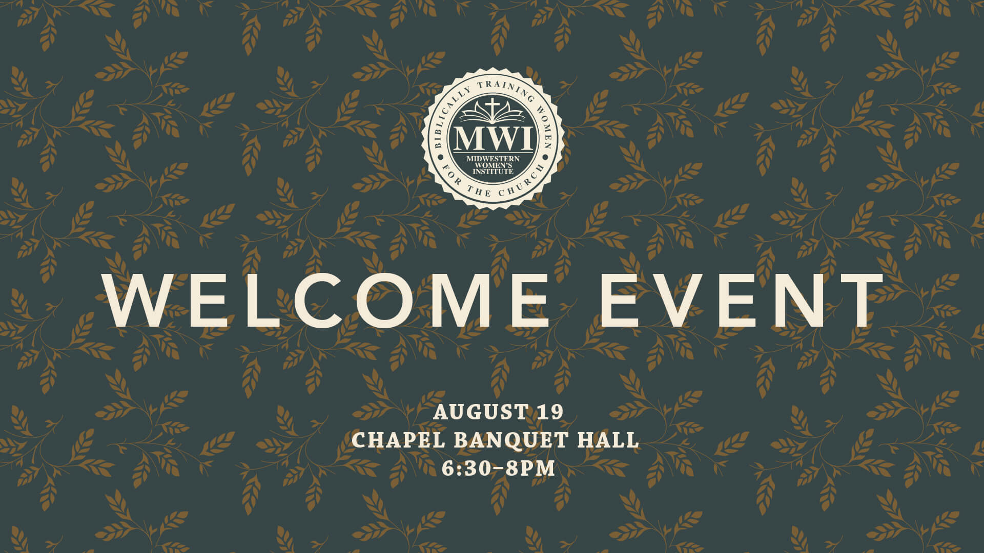 MWI Women's Welcome Event