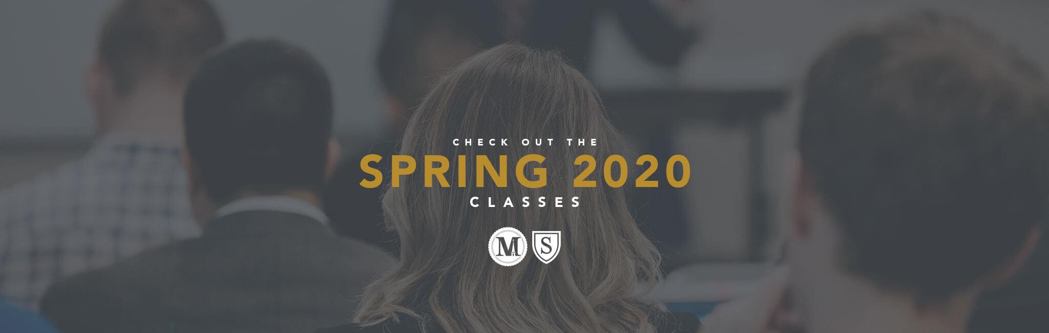 Spring 2020 Classes