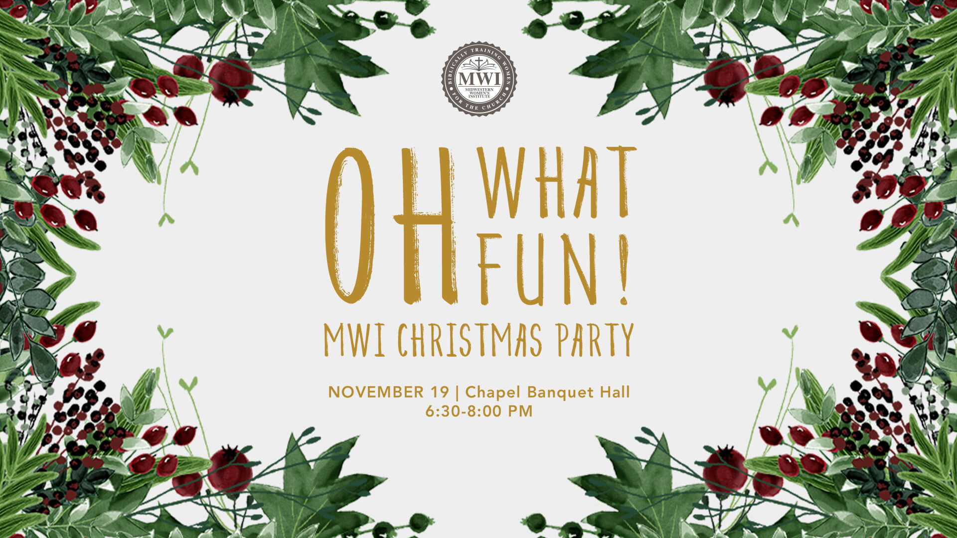 MWI Christmas Party Nov 19