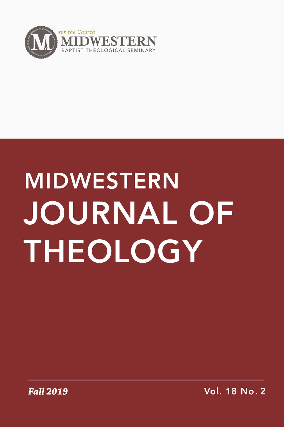 Fall 2019 Midwestern Journal of Theology